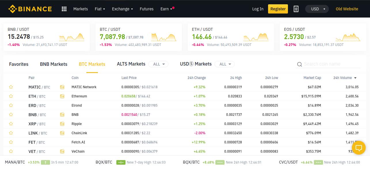 Binance - cryptocurrency trading platform